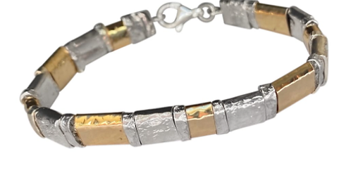 Yaron Morhaim Hammered Bracelet