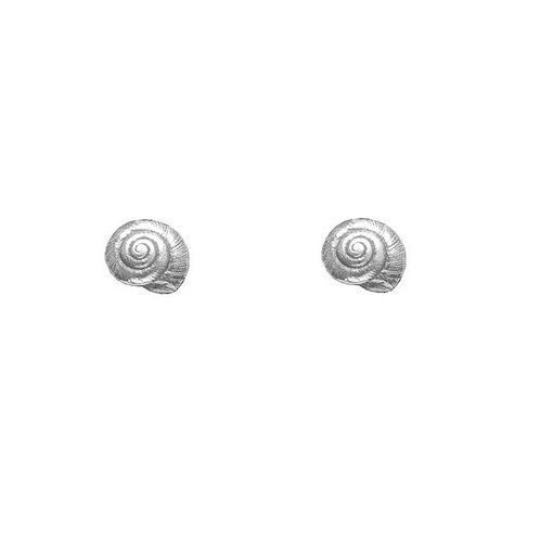 Tiny Silver Shell Earrings
