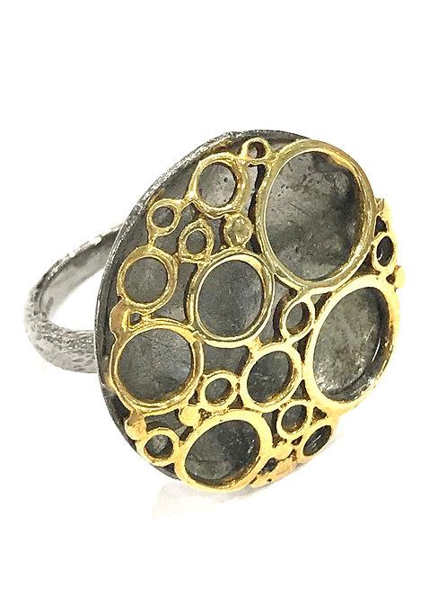 Enigma Sterling Silver Black Rhodium Statement Ring
