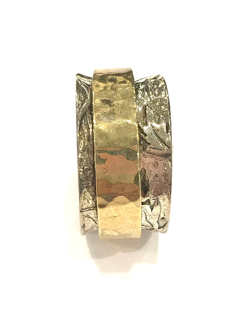 Yaron Morhaim Spinner Rolled Gold & Leaf Ring