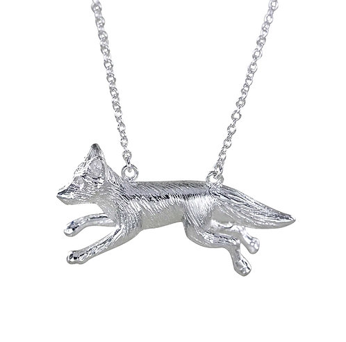 Reeves & Reeves Running Fox Necklace