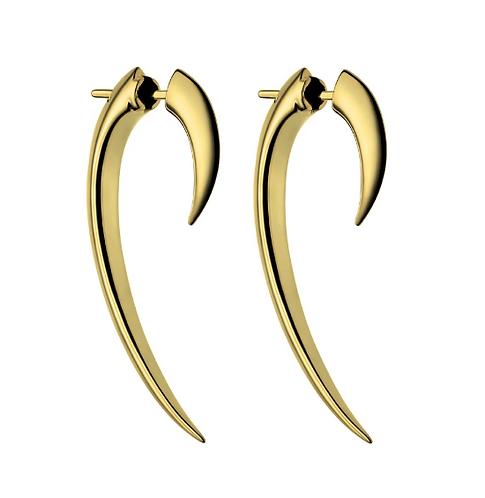 Yellow Gold Vermeil Hook Earring