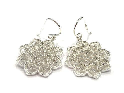 Enigma Sterling Silver Flower Earrings
