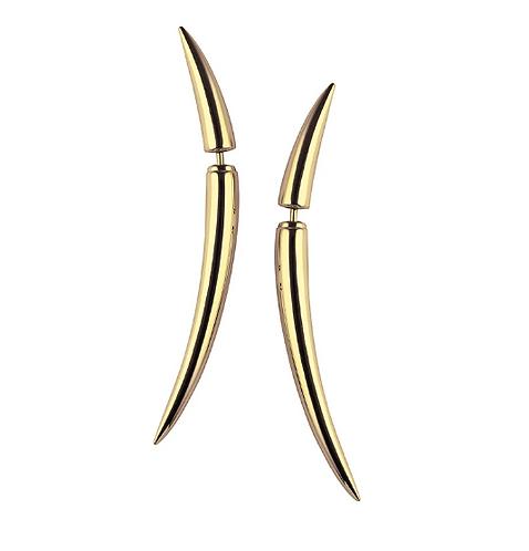 Shaun Leane Yellow Gold Vermeil Quill Earrings
