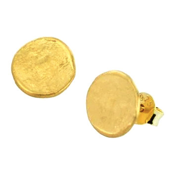 Penny Gold Plated Stud Earrings