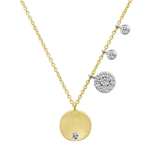 Meira T Yellow Gold Disc Necklace