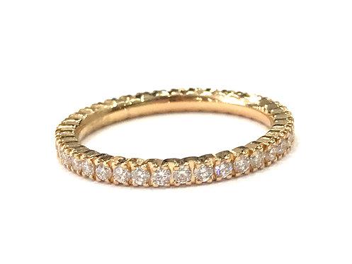 Galio 18ct Rose Gold Diamond Band