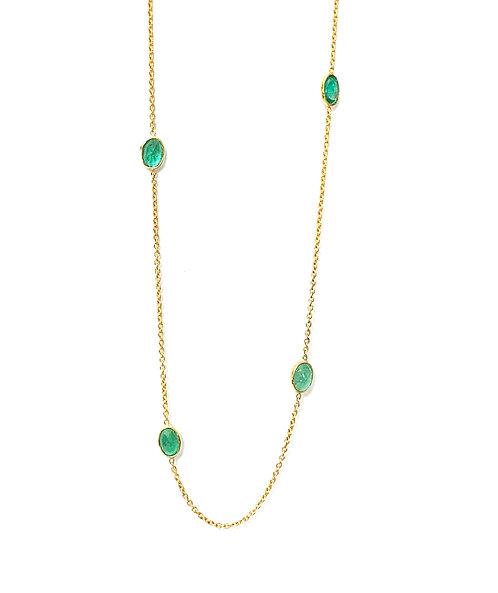 REI Emerald Slice Necklace