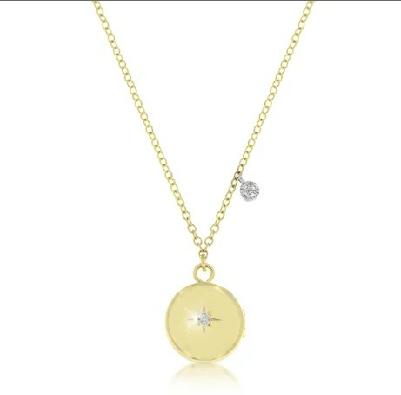 14ct Yellow Gold Diamond Locket Necklace