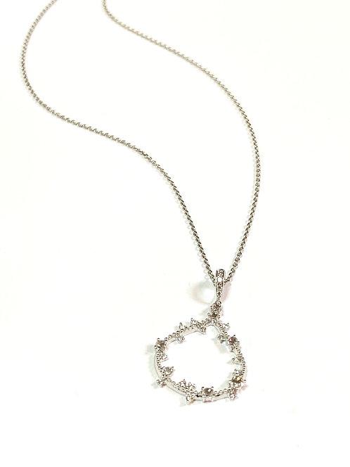Galio 18ct White Gold Necklace