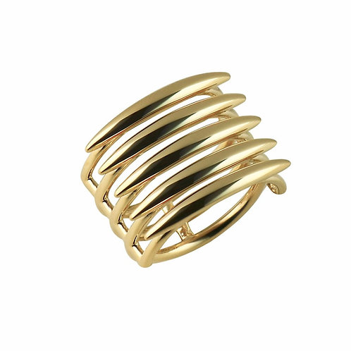Yellow Gold Vermeil Quill Ring