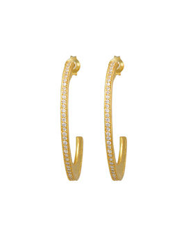 Silver Gold Plated Hoop Earrings