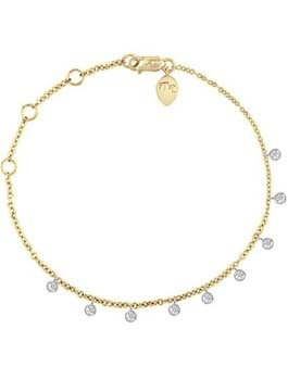 14ct Yellow Gold Bezel Diamond Bracelet