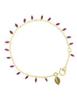 Meira T 14ct Yellow Gold & Ruby Bracelet