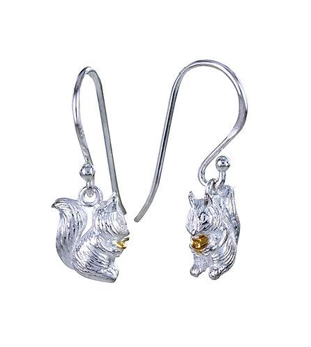 Squirrel Sterling Silver Earrings