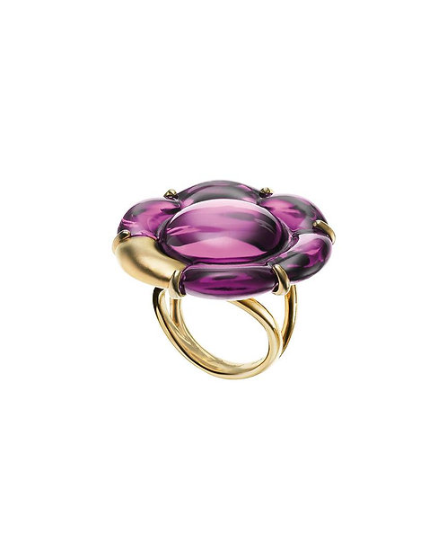 Baccarat Peony Mirror Ring