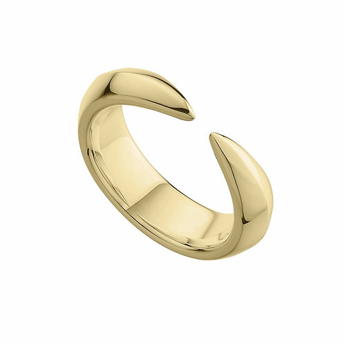 Mens Yellow Gold Vermeil Arc Ring