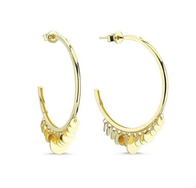 Large Gypsy Glam Hoop Earrings