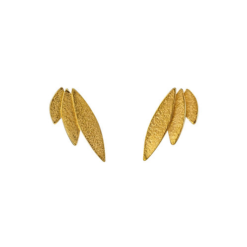Icarus Stud Earrings Gold