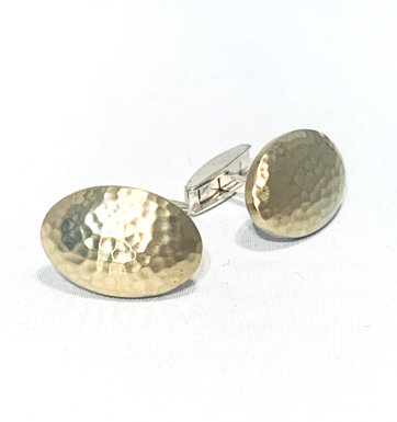 Hammered Oval Cufflinks
