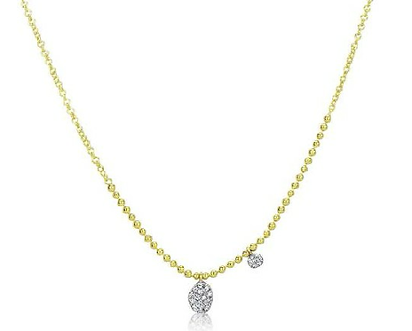 Meira T 14ct Yellow Gold Diamond Necklace MTN13198/y