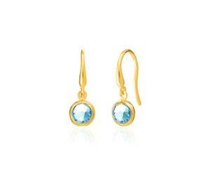 AUREN Blue Topaz Drop Earrings