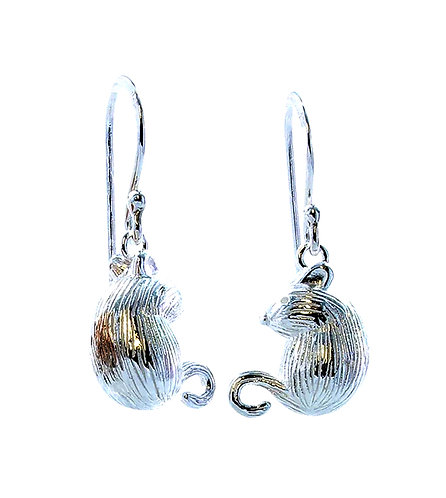 Martha Mouse Sterling Silver Earrings
