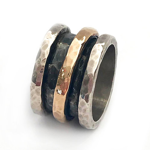 Spinner Silver & Rolled Gold Ring