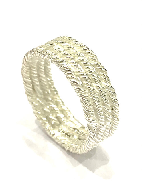 Enigma Sterling Silver Rope Ring