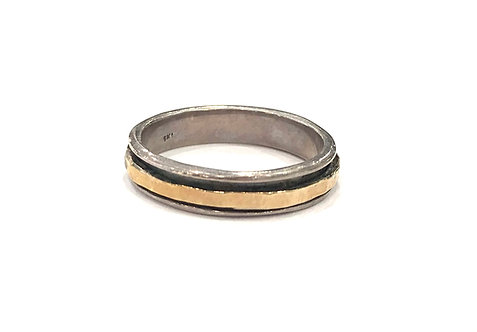 Yaron Morhaim Simple Rolled Gold Ring