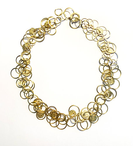 Short Multi Disc Necklace