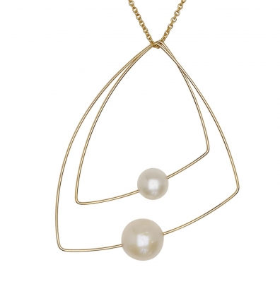 Melissa McArthur Double Triangle Pendant Necklace