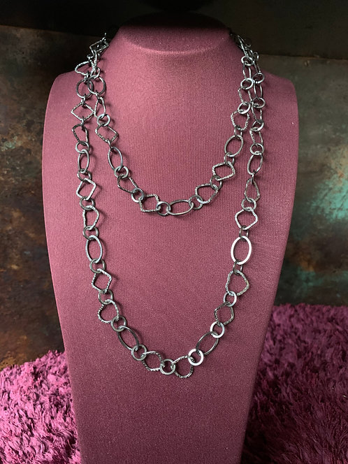 Black Rhodium Multi Shape Necklace