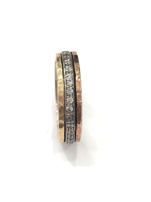 Yaron Morhaim  Spinner Rolled Gold Sparkle Ring