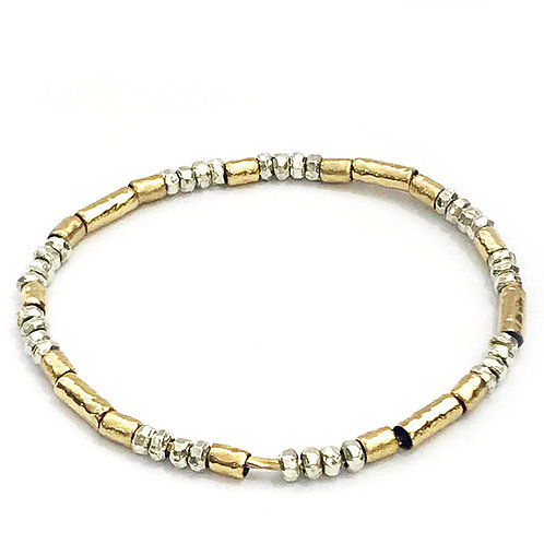 Silver & Rolled Gold Bangle