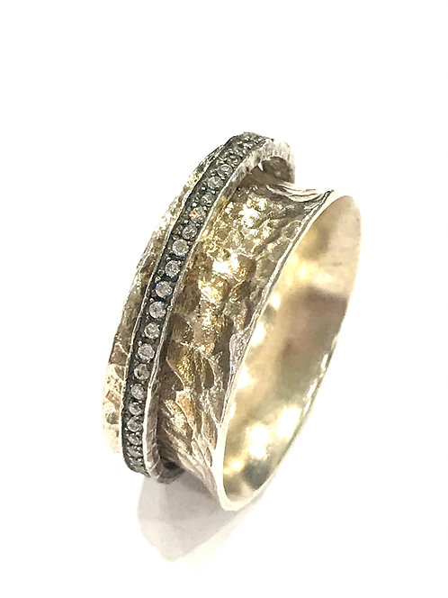 Enigma Sterling Silver Spinner Ring