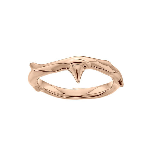 Rose Gold Vermeil Rose Thorn Band Ring