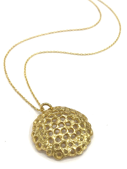 Enigma Sterling Silver Gold Plated Bubble Necklace