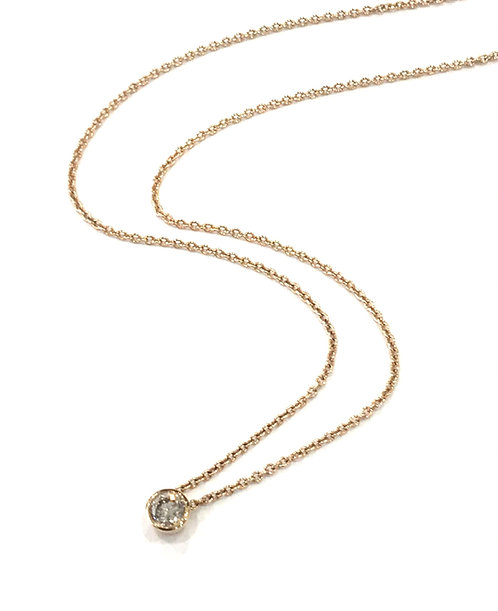 Galio 18ct Rose Gold Champagne Diamond Necklace