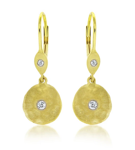 14ct Yellow Gold Drop Earrings