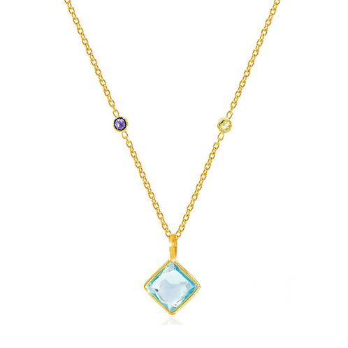 AUREN Paradigm Blue Topaz Necklace