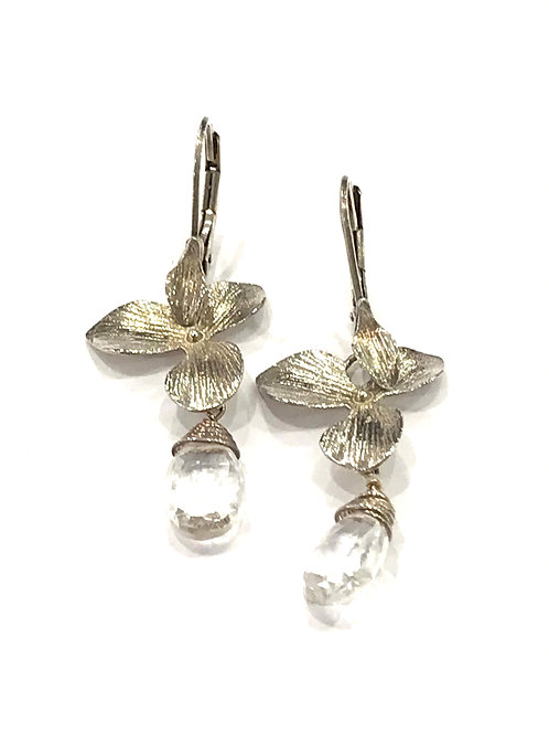 Yaron Morhaim Sterling Silver Floral Earrings