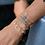 Thumbnail: Meira T 14ct Yellow Gold Bezel Diamond Bracelet