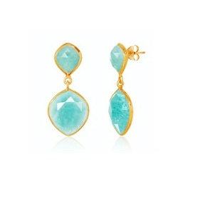 AUREN Amazonite Statement Earrings