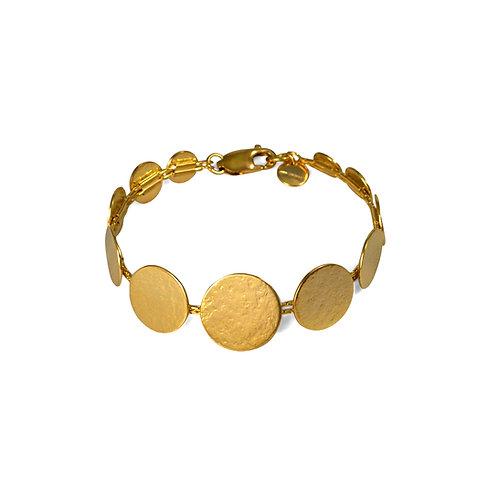 Pailette Graduated Disc Bracelet