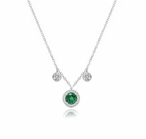 Meira T 14ct Emerald & Diamond Necklace