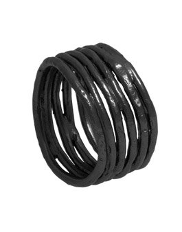 Silver Oxidised Wide Ring