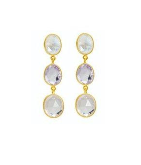 AUREN Statement Multi-stone Drop Earrings