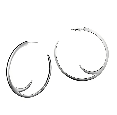 Shaun Leane Silver Cat Claw Statement Hoops
