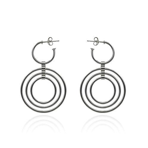 Catena Triple Loop Hoop Earrings